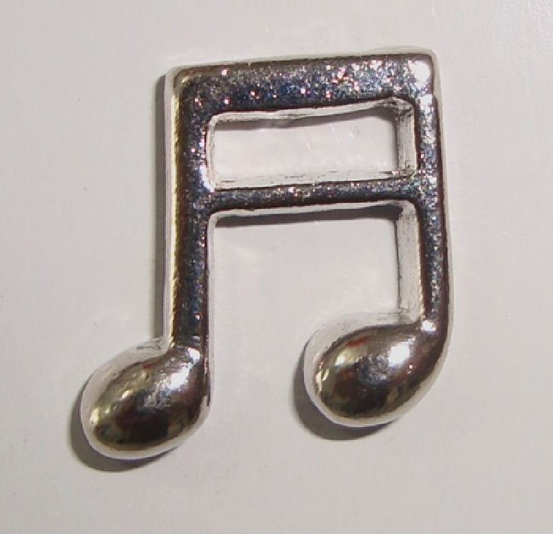 Broche Musical (botton) semi colcheia cromado