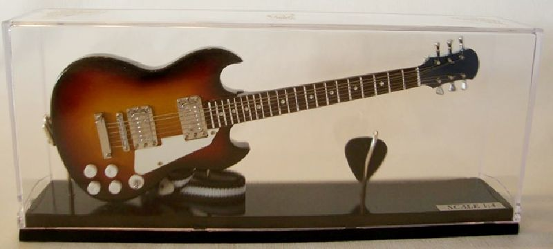 Mini guitarra SG (cristal)