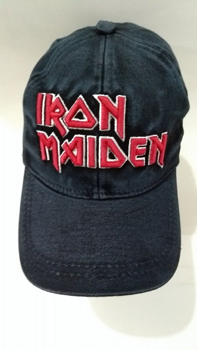 Bone de jeans com regulador velcro Iron Maiden