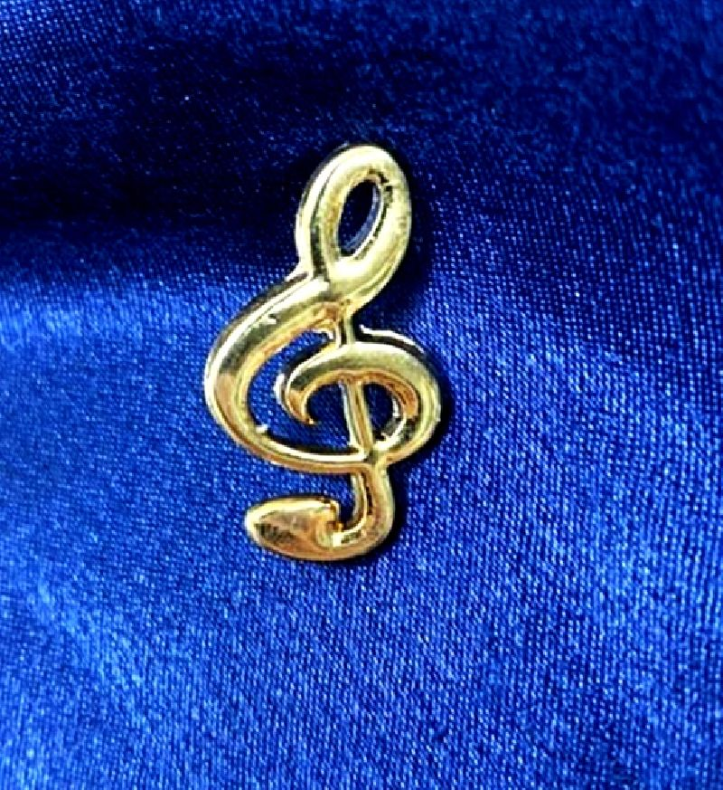 Broche Musical (Botton) Clave DE SOL DOURADA