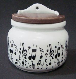 Saleiro Musical simbolos pretos Porcelana